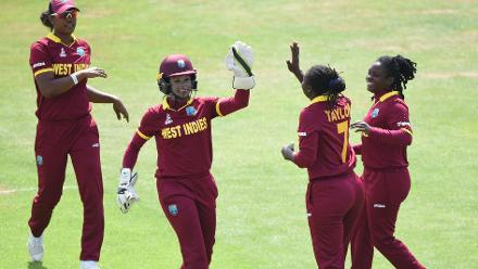 West Indies kept it tight and made regular breakthroughs, and won by a comfortable margin of 47 runs.