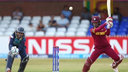Merissa Aguilleira scored a gritty, unbeaten 46 off 59 balls, helping West Indies to 229 for 9.