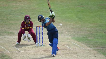 Shashikala Siriwardana steadied things for Sri Lanka after the early dismissal of the openers.