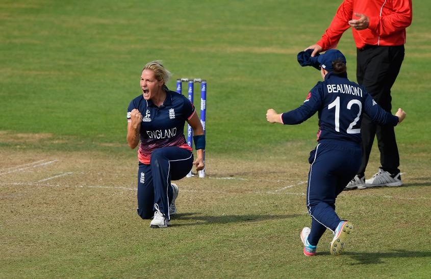 Katherine Brunt removed Ellyse Perry for 70 off 86 balls.