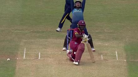 WICKET: Shashikala Siriwardena nabs Kycia Knight leg before wicket for 19