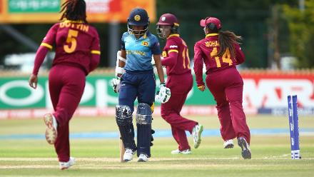West Indies caused early trouble removing both Sri Lankan openers with just 23 runs on the board.