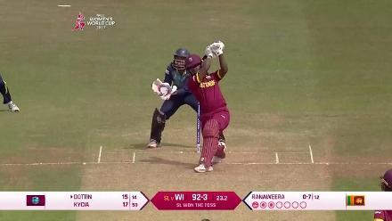 #WWC17 WI v SL: Deandra Dottin scores a breezy 38