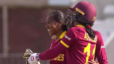 WICKET: Sri Lanka lose wickets in a heap, as West Indies get its first win of the tournament