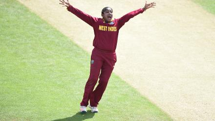 Anissa Mohammed struck regularly in the middle overs to severely dent Sri Lanka.