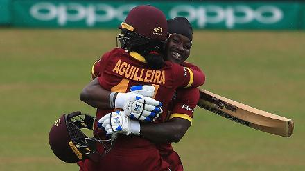 Merissa Aguilleira and Deandra Dottin put on an unbeaten 81-run stand for the fifth wicket.