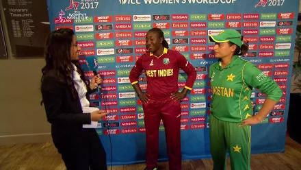 #WWC17 WI v PAK - Captains Interview