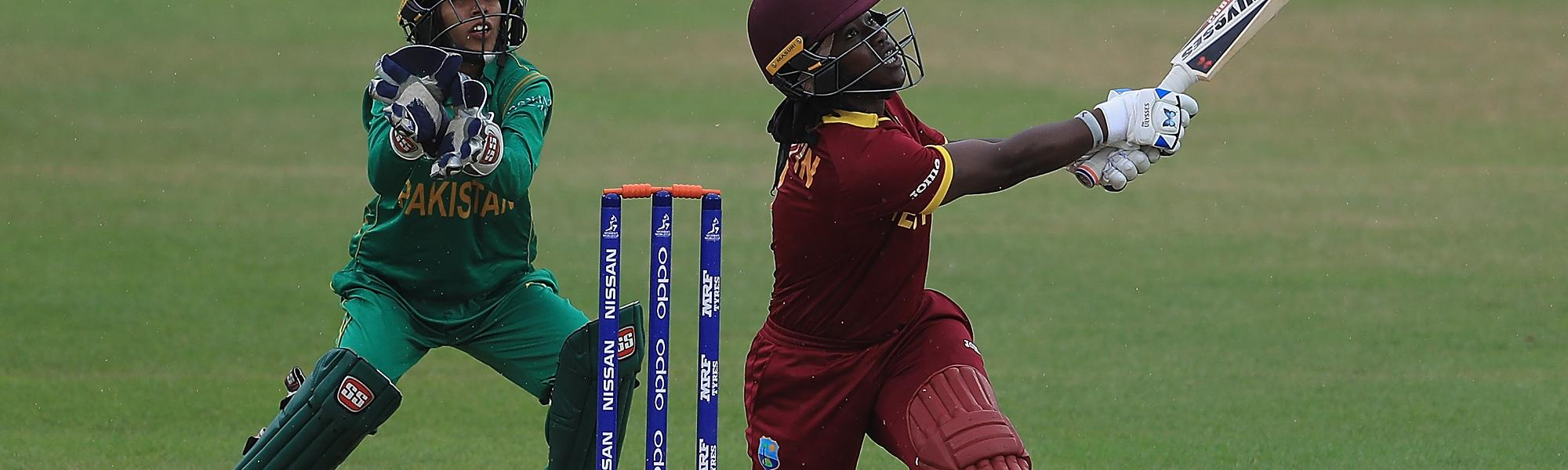 Deandra Dottin scored a 76-ball 104*, including 12 fours and three sixes, which powered West Indies to an imposing 285/4 in 50 overs.