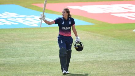 England was able to put up a respectable total of 284 for 9 courtesy a splendid century by Natalie Sciver.