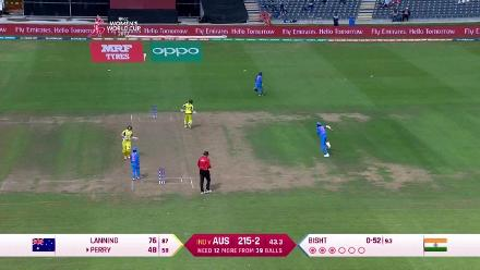 #WWC17 Ellyse Perry scores a fine 67-ball 60 to guide Australia home