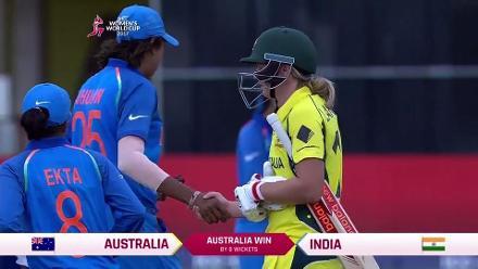 #WWC17 Australia v India Winning Moment