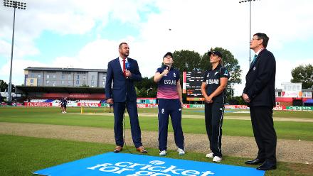 England won the toss and elected to bat first.