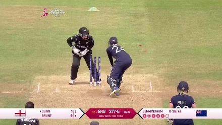 #WWC17 ENG v NZ - Jenny Gunn and Anya Shrubsole wickets