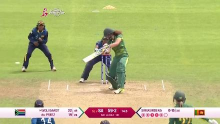 Laura Wolvaardt's match-winning 48* against Sri Lanka at the 2017 ICC Cricket World Cup