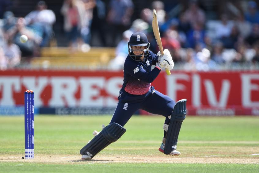 Tammy Beaumont held England together after the three early wickets.