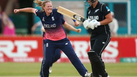 Anya Shrubsole provided the first breakthrough by dismissing Rachel Priest cheaply for 12.