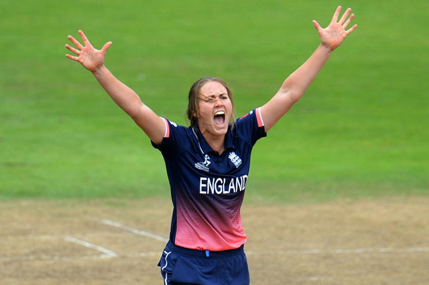 Natalie Sciver picked up three wickets in no time to reduce West Indies to 129 for 8 and gift England a 92-run victory.