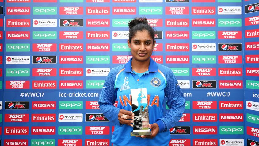 Mithali Raj was adjudged Player of the Match for her sixth ODI Century