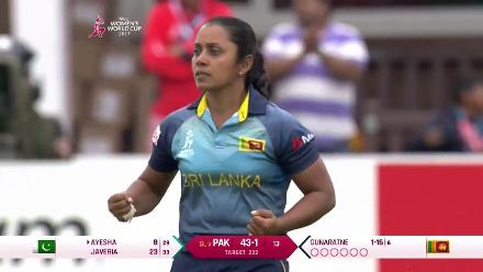 WICKET: Ayesha Zafar falls for 8