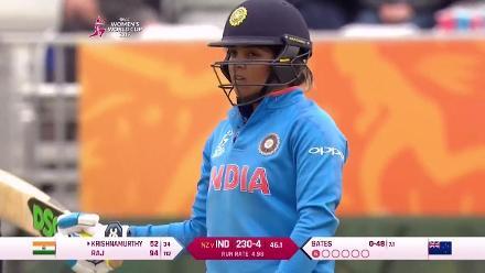 #WWC17 Veda Krishnamurthy slams a counter-attacking 45-ball 70