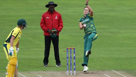 Marizanne Kapp's 2 for 26 helped keep Australia in check.