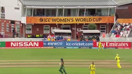 WICKET: Mignon du Preez falls to Rachel Haynes for 20