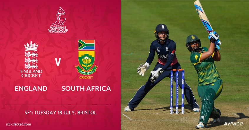The first semi-final is between England and South Africa