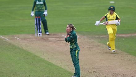 Dane van Niekerk took 2 for 41 in her eight overs to peg Australia back after their strong start.