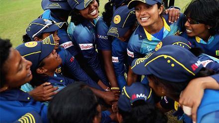 Sri Lanka celebrate their win over Pakistan