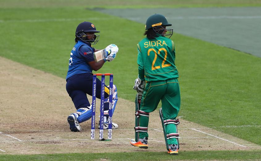Despite the steady fall of wickets, Dilani Manodara scored an impressive 84 to take Sri Lanka to 221 for 7.