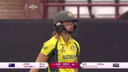 WICKET: Ellyse Perry falls for 55