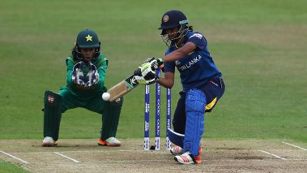 Playing her 100th ODI, Shashikala Siriwardena steadied the innings after the early fall of wickets.