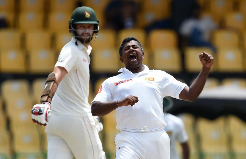 Herath, who registered his 30th Test five-wicket haul in the first innings, ran riot at the start of Zimabwe's second dig to get the wickets of Hamilton Masakadza, Tarisai Musakanda and Regis Chakabva.