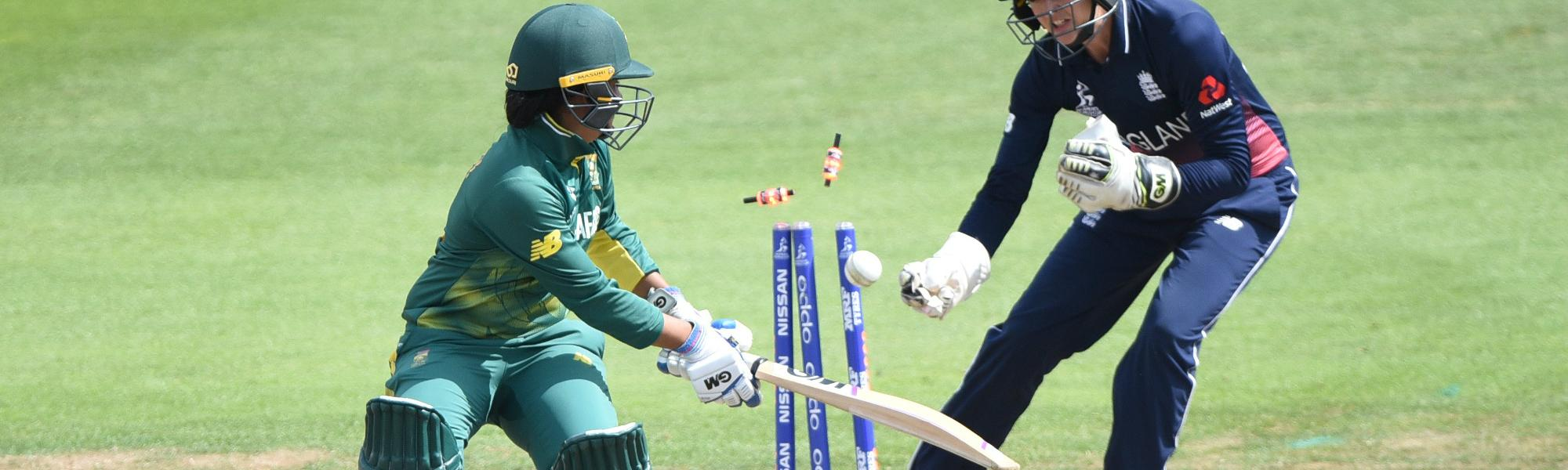 Sarah Taylor was just as good behind the stumps, effecting six dismissals, including a leg-side stumping of South Africa's Trisha Chetty in the semi-final