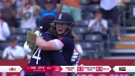 #WWC17 Semi-Final 1: ENG v SA - England winning moment