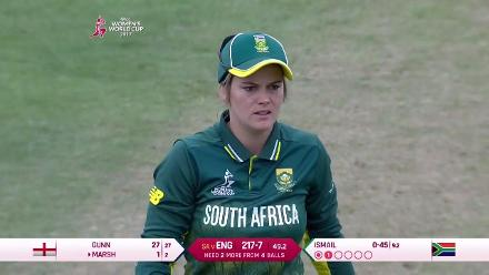 #WWC17 Semi-Final 1: ENG v SA - Last over thriller