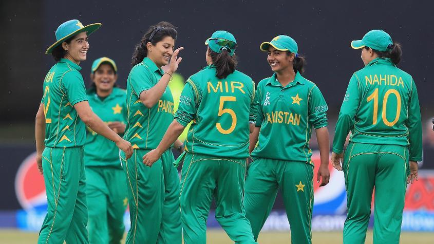 Pakistan women celebrating