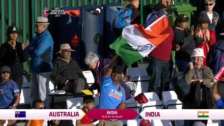 #WWC17 AUS IND - India winning moment