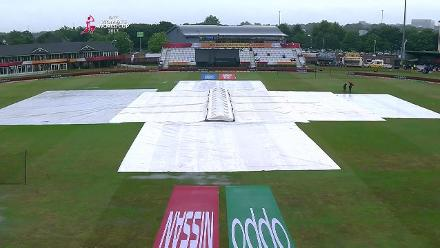 #WWC17 SF2: Heavy rain delays the start of the second semi-final between Australia and India