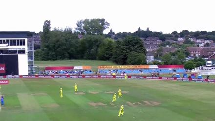 #WICKET: Smriti Mandhana falls to Megan Schutt for 6