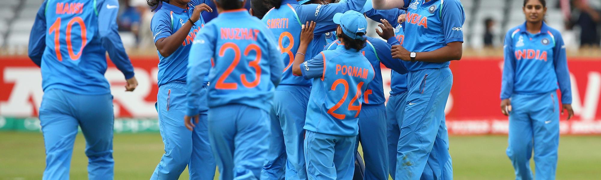 India Women celebrating