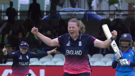 WICKET: Anya Shrubsole castles Smriti Mandhana for a duck