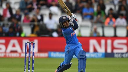 Punam Raut gave India a solid start and scored a few boundaries too.