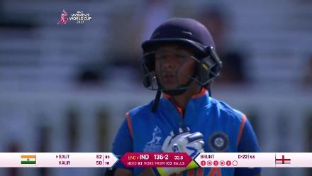 FIFTY: Harmanpreet Kaur reaches her half-century in 78 deliveries