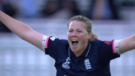 WICKET: Veda Krishnamurthy and Jhulan Goswami fall in quick succession to Anya Shrubsole