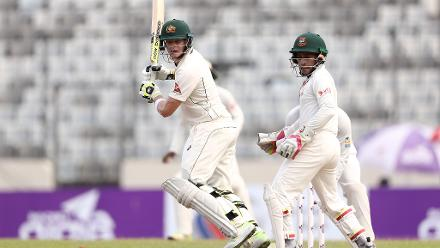 Steven Smith looked settled with his sedate 37 off 99 balls before Shakib Al Hasan accounted for his dismissal as well.