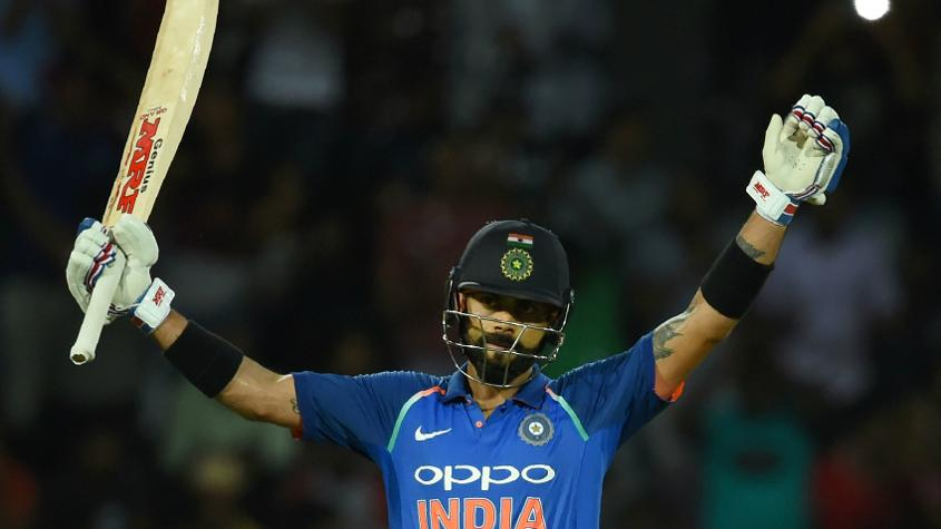 Virat Kohli is now on 887 points – equaling the highest ODI rating points by an India batsman, recorded by Sachin Tendulkar in 1998.