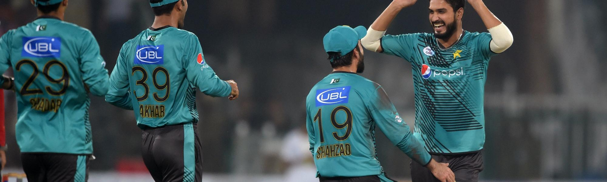 Rumman Raees and Shadab Khan broke the batting of the visitors and took four wickets between the two of them