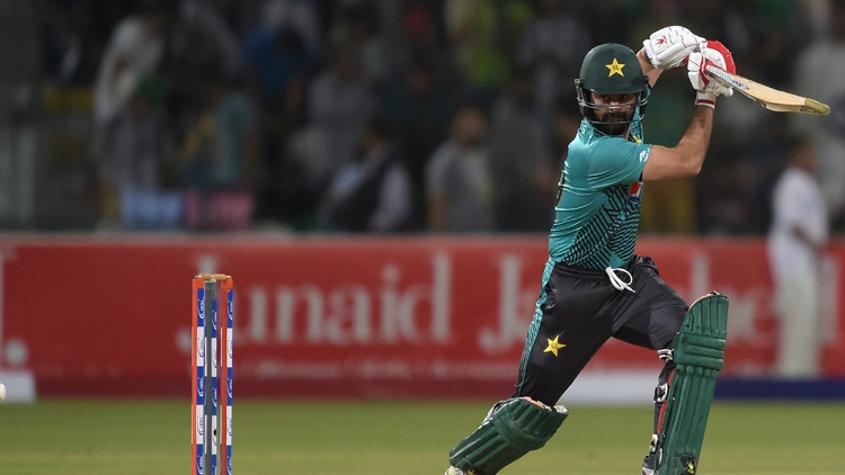 Ahmed Shehzad (43) and Babar Azam (45) added 59 runs for the second wicket.