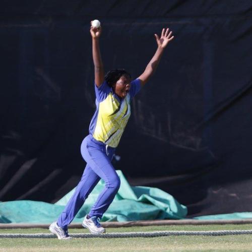 Aisha Ally celebrates the wicket of Sune Wittmann